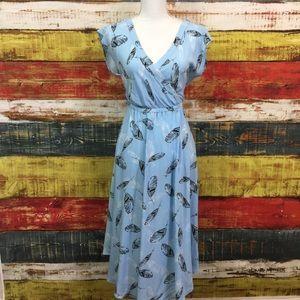 Torrid Floral Deep V-Neck Dress Size 00 O26